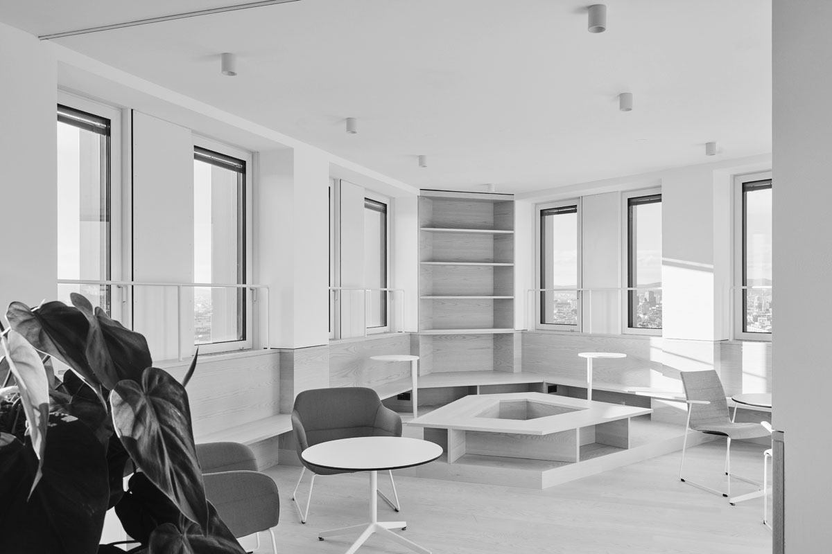 Neue Bürowelt Headquarter Wien Energie, Schenker Salvi Weber, Bild Bürolandschaft, New Office Landscape Wien Energie Tower