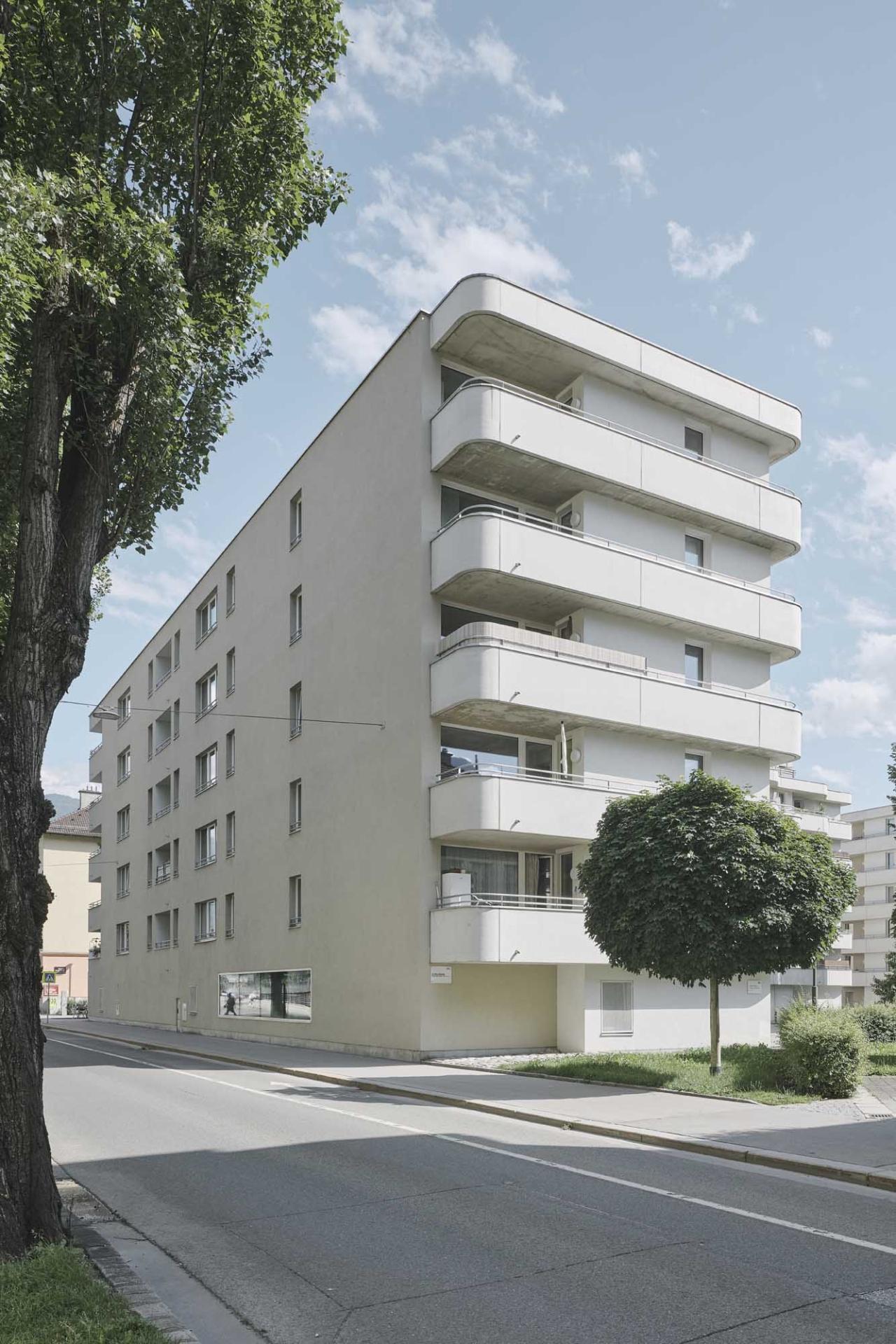 Schenker Salvi Weber Wohnbebauung Sillblock Innsbruck