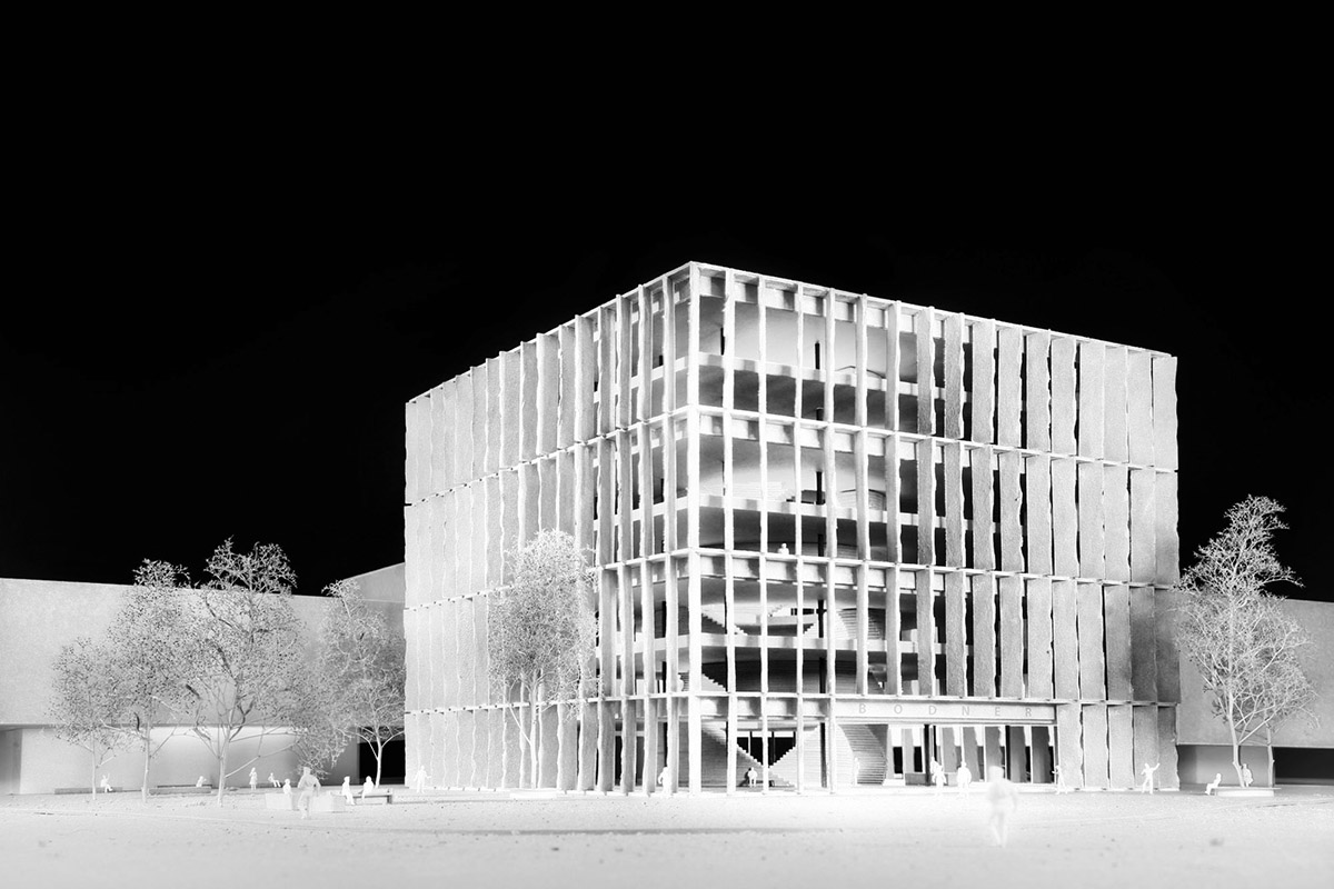 Bodner Campus Kufstein, Schenker Salvi Weber, featured image, Modellfoto
